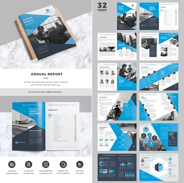 Creative Business InDesign Annual Report Template