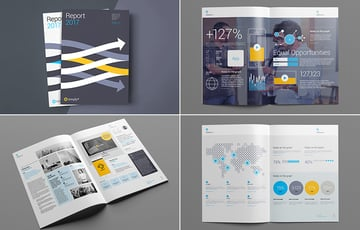 Professional annual report template design example