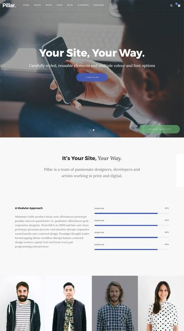 Pillar - Creative Agency WordPress Template
