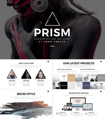 Prism Creative 2016 PowerPoint Template Design