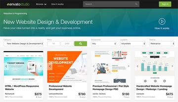 Envato Studio web design services