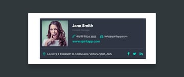 Beautiful Professional Email Signature Template Example