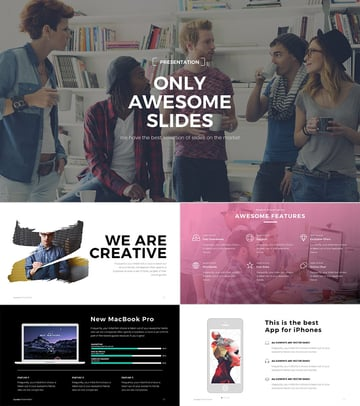 PowerPoint presentation design template with creative colors