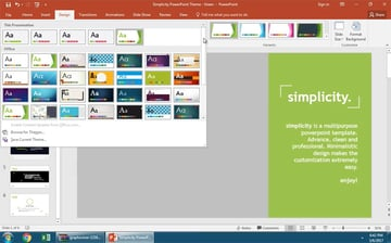 What PowerPoint themes do you have installed
