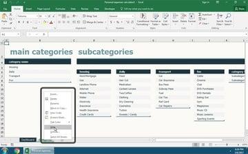 Hiding sheets in Excel