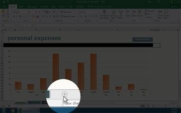 Add a sheet in Excel