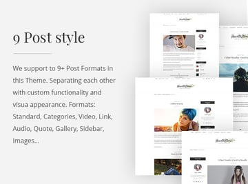 Hearthstone WordPress theme post styles and typography