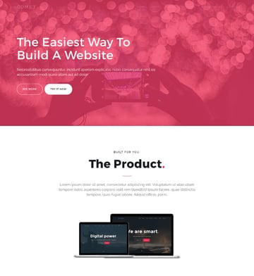 Comet one-page responsive WP website theme