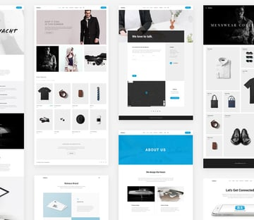 one-page Parallax WordPress template examples from Bateaux theme