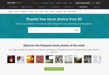 Sell stock photo images on sites like PhotoDune