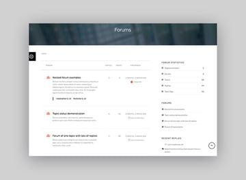 Sentric - Ejemplo de tema de WordPress para base de conocimiento con foro
