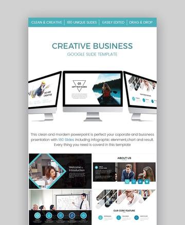 Creative Business Google Slide Presentation Template Design