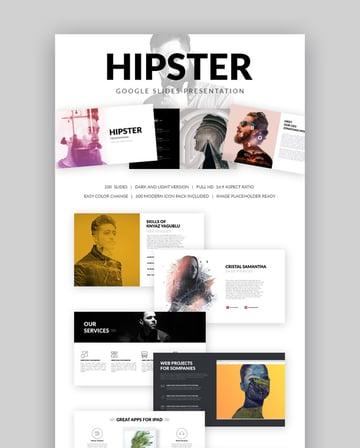 Hipster Cooles Google Slides Präsentation Theme