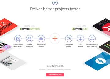 Envato Elements Includes free access to Envato Tuts