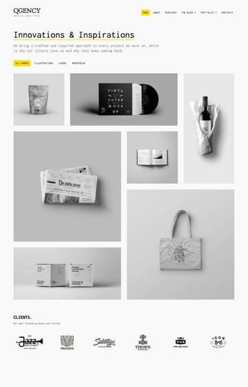 QOON clean creative WordPress minimal theme design