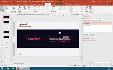 Open PowerPoint Spelling