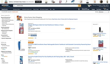 Amazon top commodity products sold online