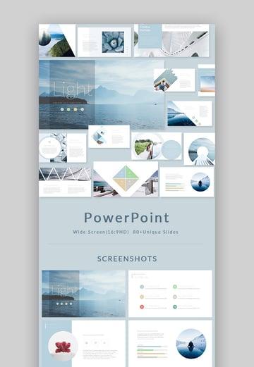 Light Stylish PowerPoint Presentation Design Set