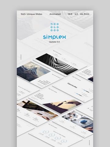 Simplex Presentation Best Minimal PowerPoint Design
