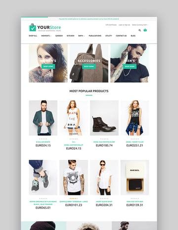 YourStore BigCommerce theme design