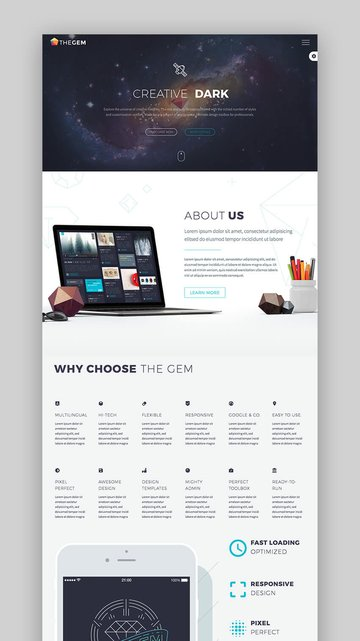 The Gem creative versatile WordPress theme