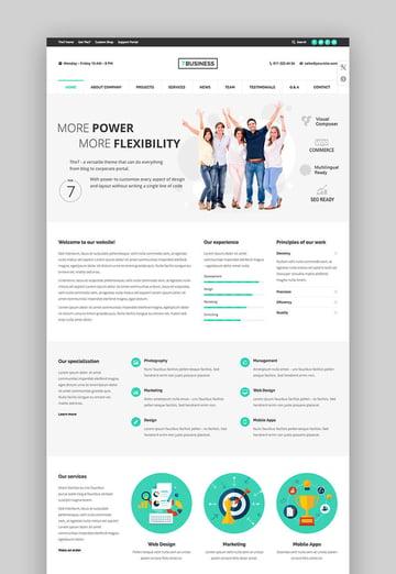 The7 premium customizable WordPress theme