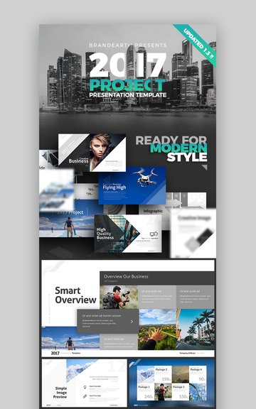 2017 Project Best New PowerPoint Presentation Template