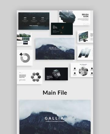Gallia Creative Google Slide Presentation Template Design