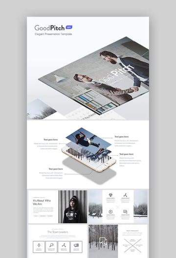 Good Pitch Elegant Design Business Keynote Template Set