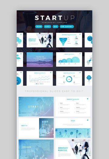 Startup Business Pitch Deck PowerPoint Template