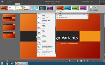 Change just fonts using PowerPoint variants