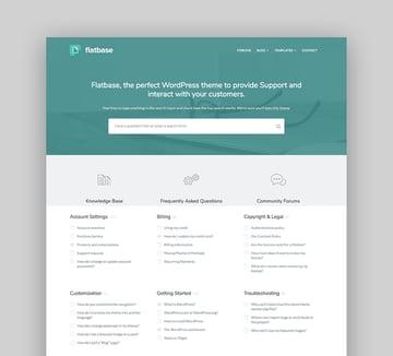 Flatbase - Knowledge base wiki WordPress theme