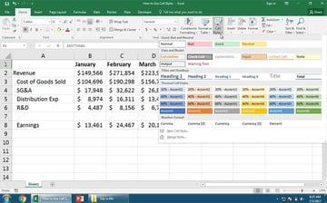 Multiple Cell Styles in Excel