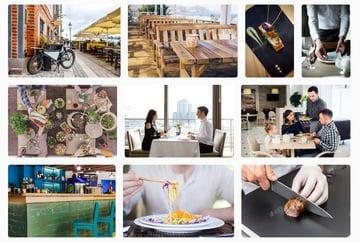 Restaurant photos for your website