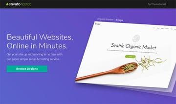 Envato Hosted simple WordPress hosting