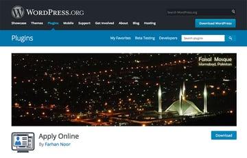 Apply Online Wordpress plugin