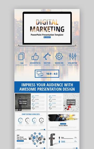 Digital Marketing Business Strategy PPT Presentation