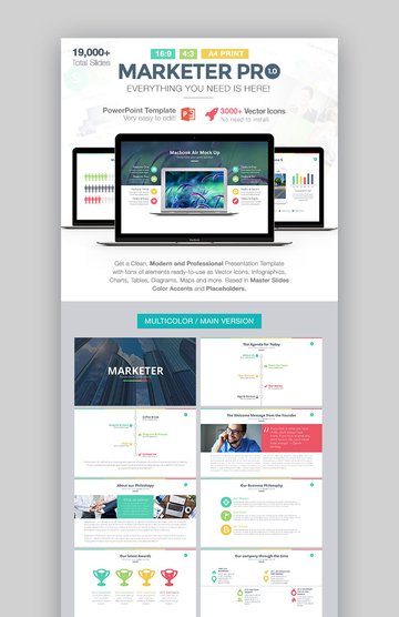 Marketer Pro PowerPoint Strategy PPT Design Template