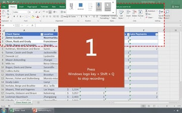 Start the PowerPoint Screencast Recording Countdown