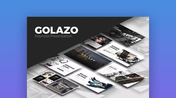 Golazo Creative Keynote Presentation Theme for Mac