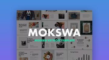 Mokswa Apple Modern Agency Mac Keynote Theme