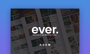 Ever Clean and Simple WordPress Theme Design