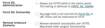 WordPress HTTPS Settings