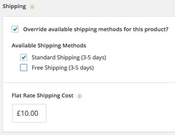 Shipping Override