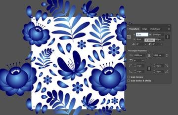 Editing objects location in Adobe Illustrator