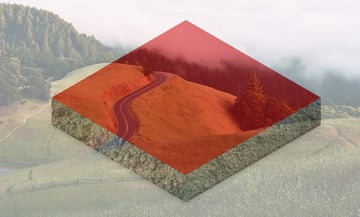 Adding hill landscape