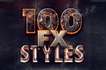 100 photoshop layer styles bundle