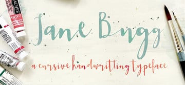 Jane Bugg Custom Cursive Letters Font