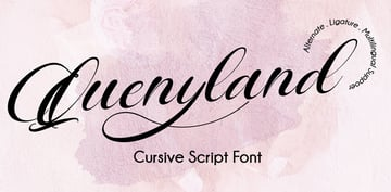 Quenyland - Fancy Cursive Script Font