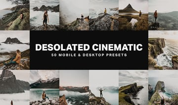 50 Desolated Cinematic Lightroom Presets and LUTs